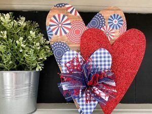 Stacked USA Hearts