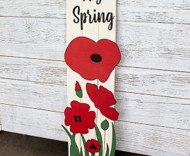 Porch Board Poppy Spring