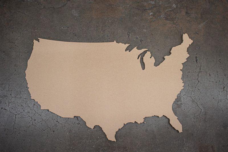 Large United States USA Cutout