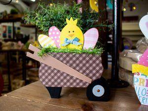 Easter Chick Wheelbarrow
