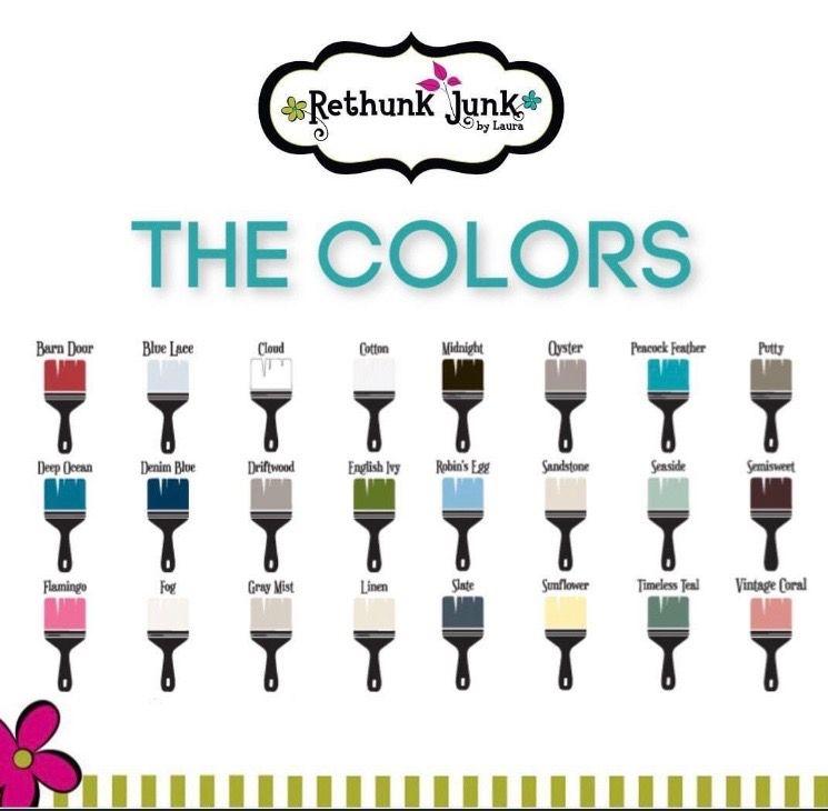 Rethunk Junk Paint Colors