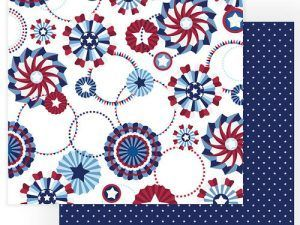 Photo Play Paper - Gnome for July 4th Collection - 12 x 12 Double Sided Paper - Liberty