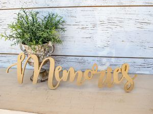 cursive memories sign