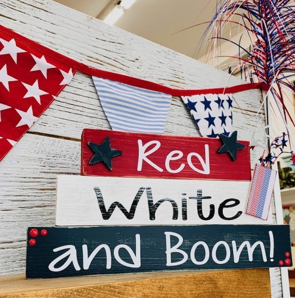 Red White and Boom Blocks