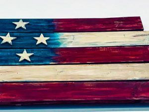 USA board flag