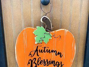 Welcome Post Fall Pumpkin