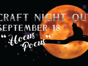 Craft Night Out September 2020